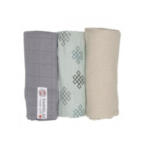 LODGER SWADDLER EMPIRE KNOT 3BALENÍ 70 X 70 CM SILT GREEN