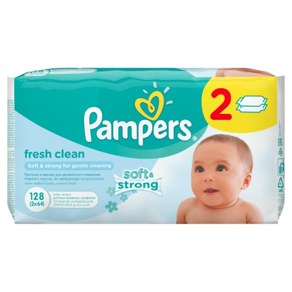 PAMPERS UBROUSKY FRESH CLEAN 2X64KS