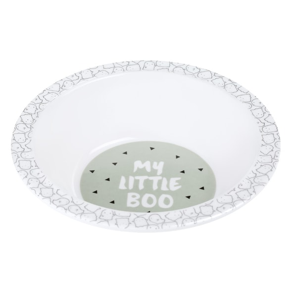 LÄSSIG 4BABIES BOWL WITH SILICONE LITTLE SPOOKIES OLIVE