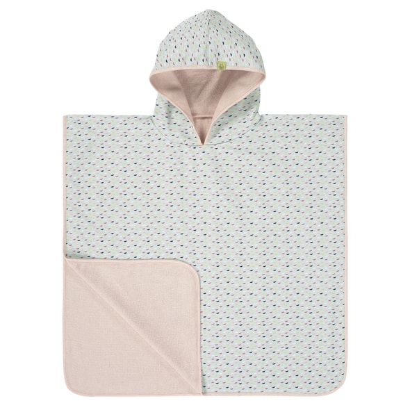 LÄSSIG SPLASH BEACH PONCHO GIRLS FISH SCALES
