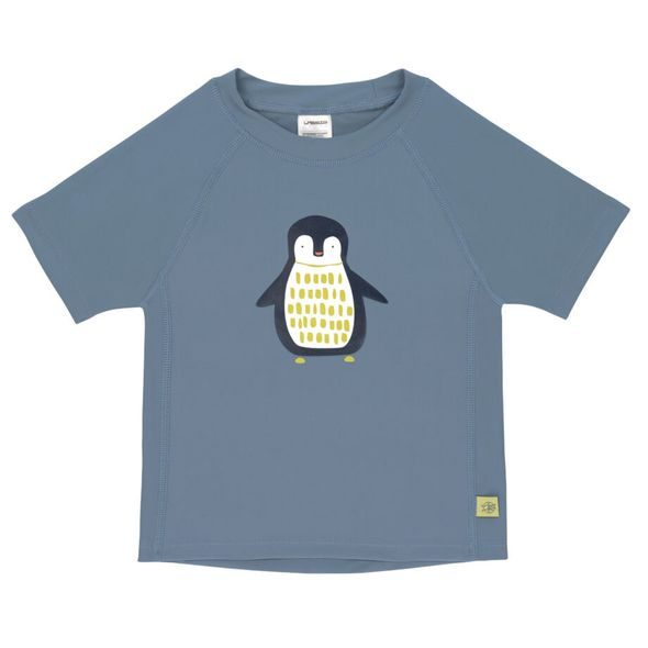 LÄSSIG SPLASH SHORT SLEEVE RASHGUARD PENGUIN NIAGARA BLUE 18 MO.