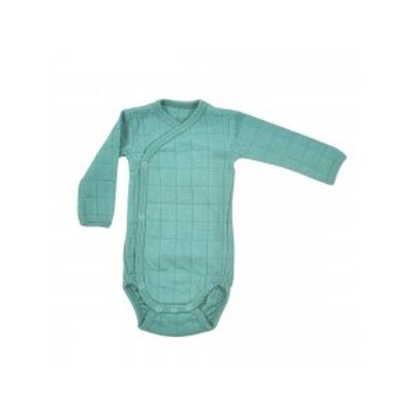 LODGER ROMPER SOLID LONG SLEEVES DUSTY TURQUOISE VEL. 56