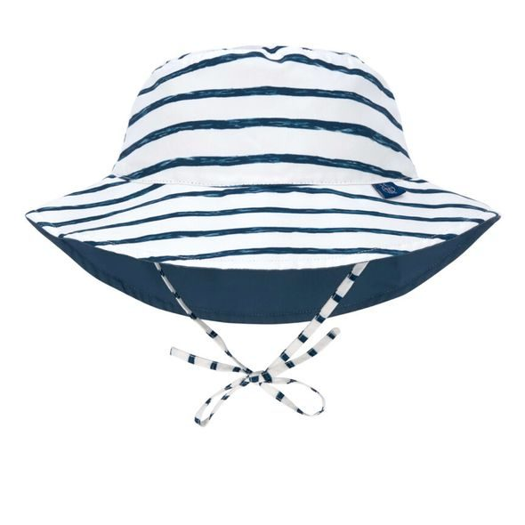 LÄSSIG SPLASH SUN BUCKET HAT STRIPES NAVY 09-12 MO.