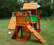 Jungle Barn s moduly Climb a Bridge a Playhouse