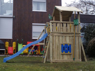 Chalet + Rock module, Swing Module, Playhouse module