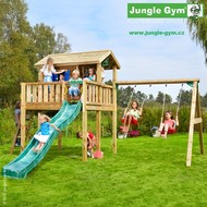 Jungle Playhouse s terasou XL  a Swing Module Xtra