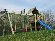 Jungle Cubby s houpačkou Swing Module X´tra