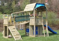 Kombinace Jungle Barn+Bridge Module+Swing Module+Play House module