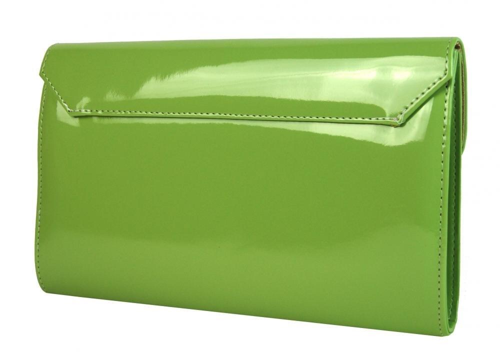 1578f45827 Luxusní zelená lakovaná dámská listová kabelka   psaní SP100