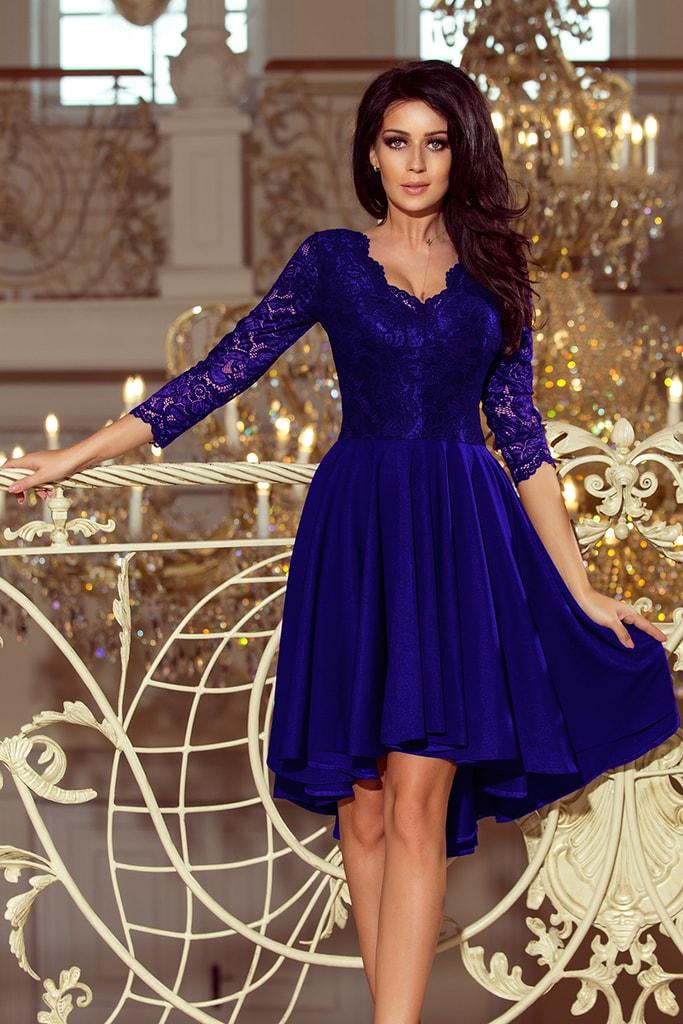 ee47ff1536f0 Krásné společenské modré šaty 210-4 ...