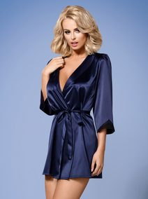 Elegantní Župan Satinia robe dark blue