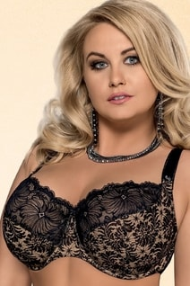 Měkká podprsenka 534 Chantal plus black lace