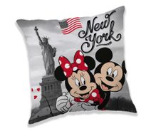 Polštářek Mickey a Minnie New York Polyester, 40/40 cm