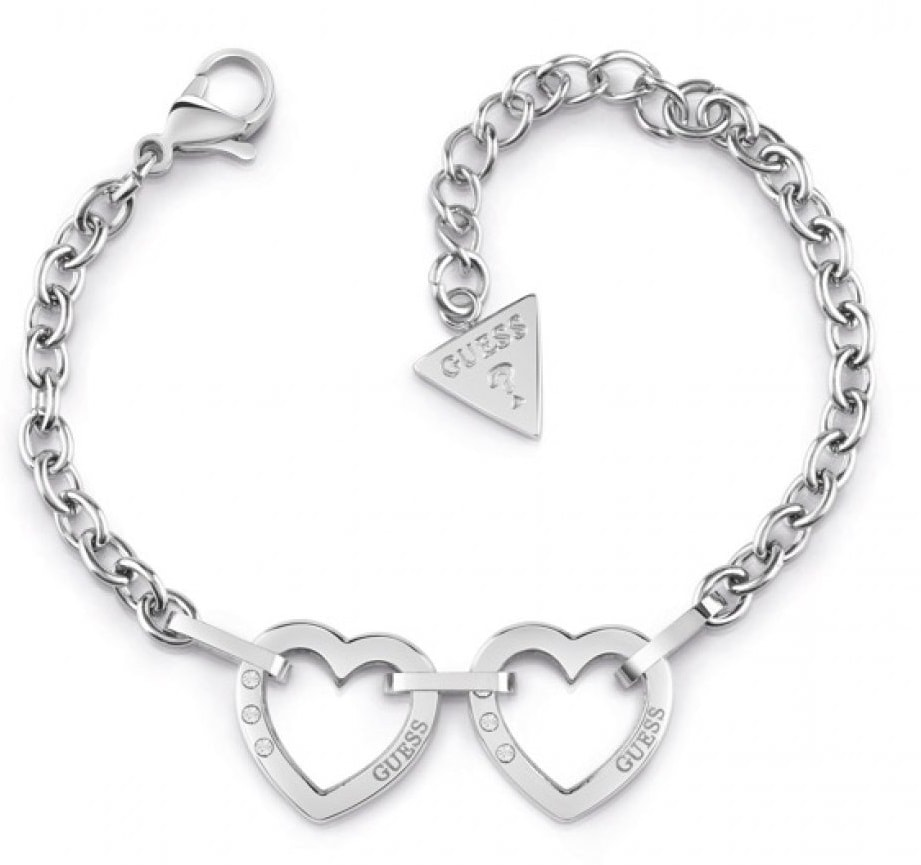 Guess Hearted Chain UBB29069-S