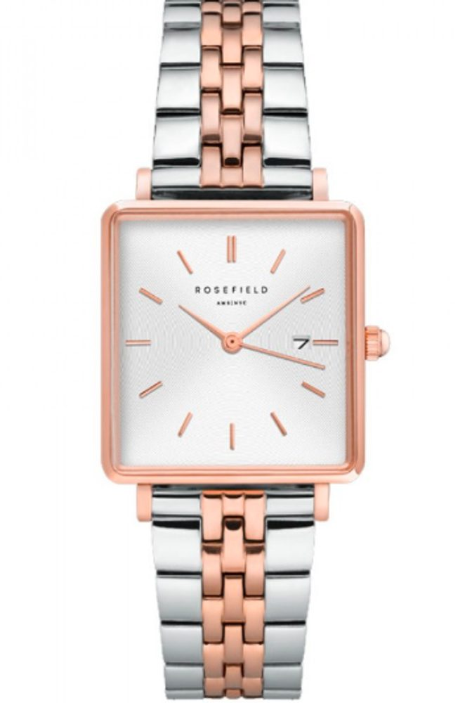 Rosefield The Boxy White Sunray Silver Rosegold Duo QVSRD-Q14
