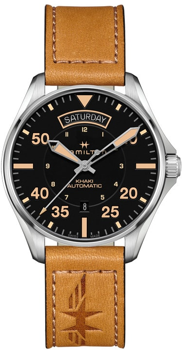 Hamilton Khaki Aviation Pilot Day Date Auto H64645531