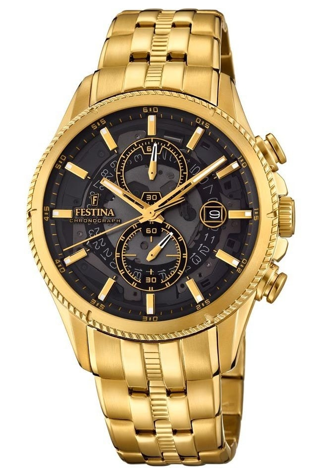 Festina Gold Black Chrono 20269-3