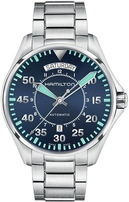 Hamilton Khaki Aviation Pilot Day Date Auto H64615145
