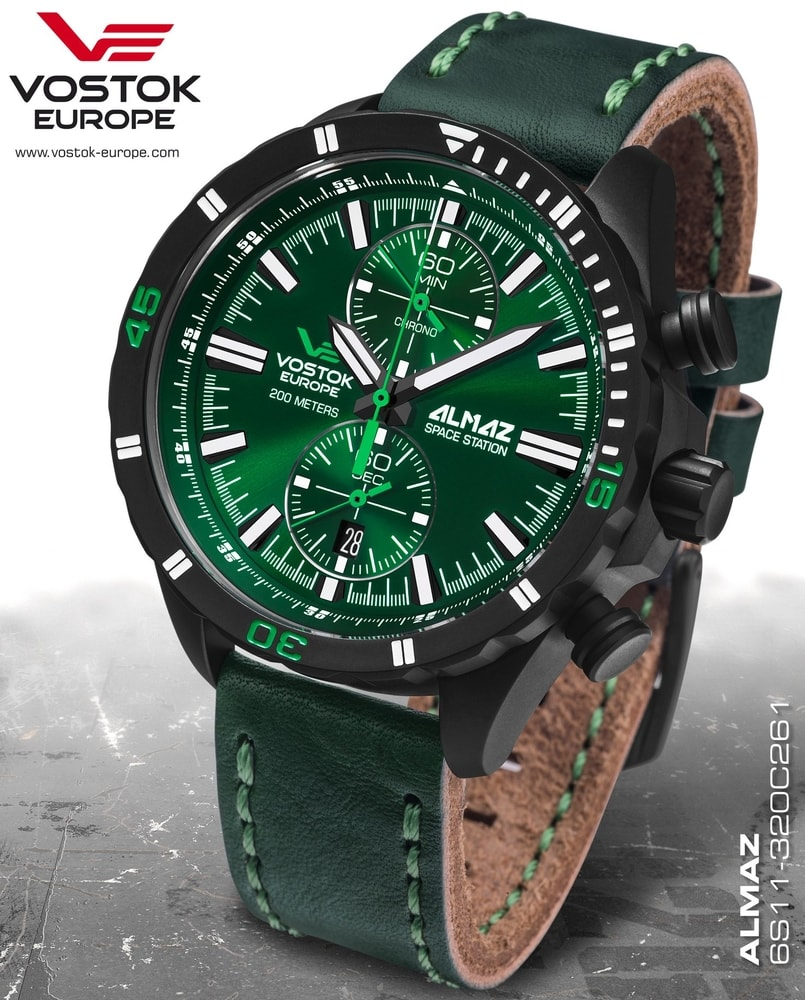 Vostok Europe Almaz Chrono 6S11-320C261