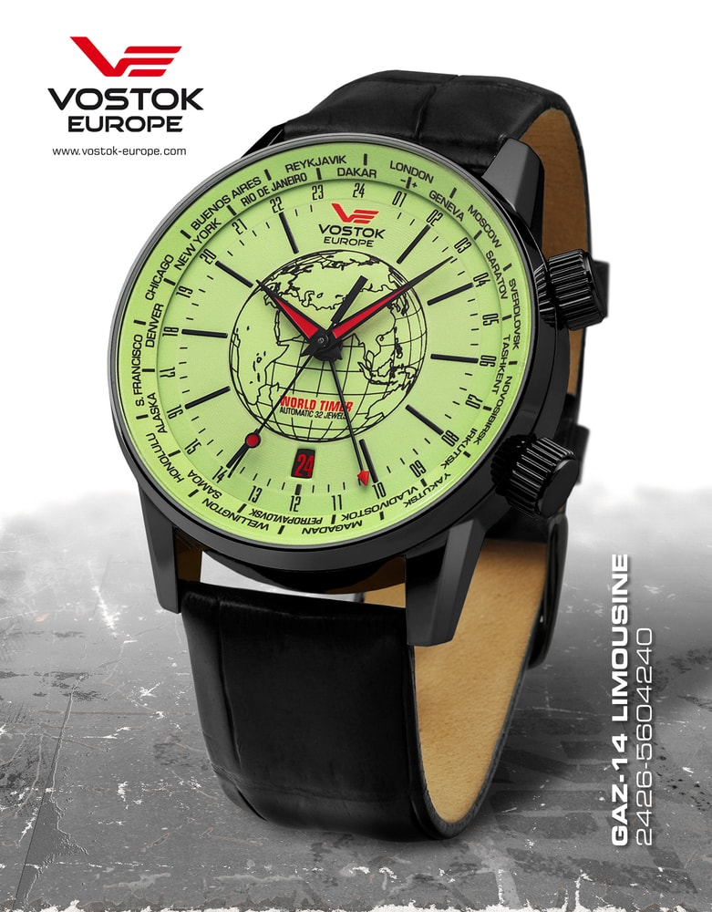 Vostok Europe Gaz-14 Limouzine World Timer 2426-5604240