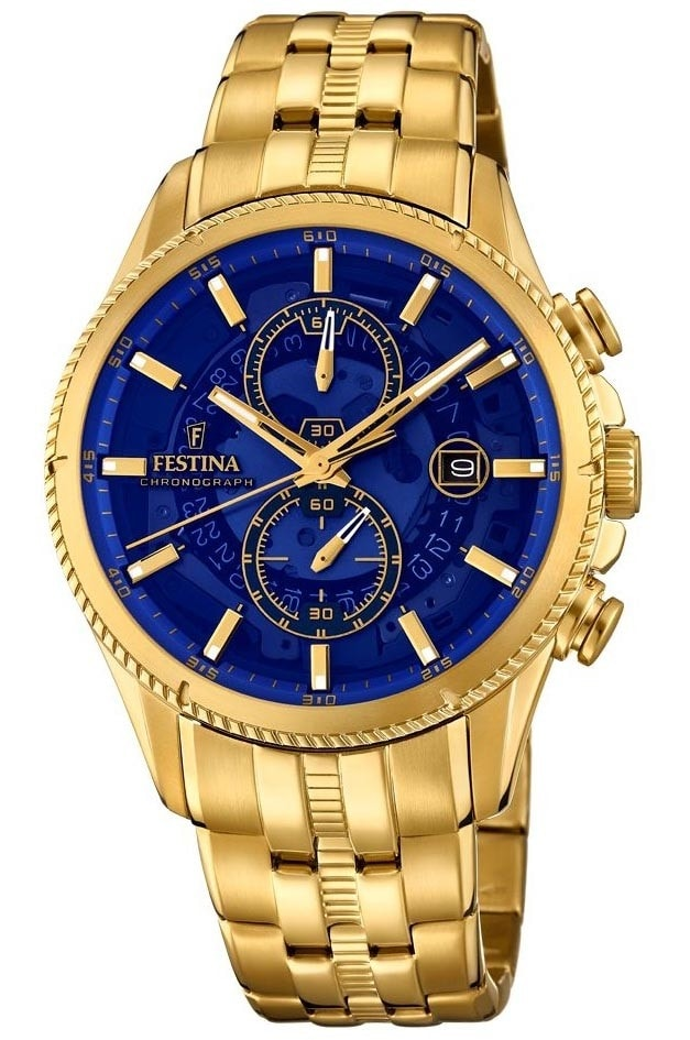 Festina Gold Blue Chrono 20269-2