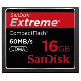 SanDisk Extreme CompactFlash Card 60MB/s 16GB