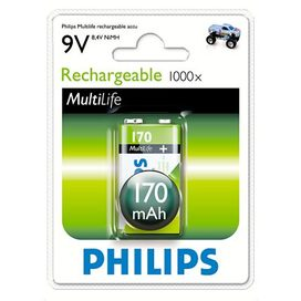 PHILIPS Multilife baterie 9V 170mAh, NiMh
