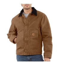ej022 brn duck traditional jacket