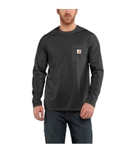 100393 FORCE™ Cotton  L-Sleeve T-shirt Carbon heather