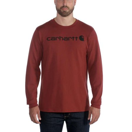 Carhartt triko -104107R07 Long-Sleeve Workwear SignatureI Graphic T shirt - Core Logo
