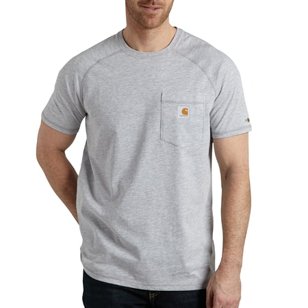 FORCE™ Cotton S-Sleeve T-Shirt Heather Grey