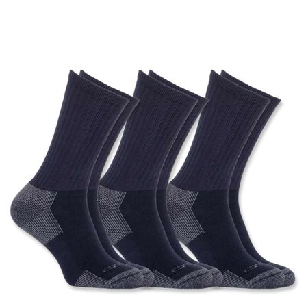 Carhartt Ponožky - A62NVY  ALL-SEASON COTTON WORK SOCK  3-PACK