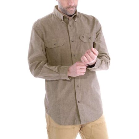 Košile carhartt - S202 256 Long-Sleeve Chambray Shirt