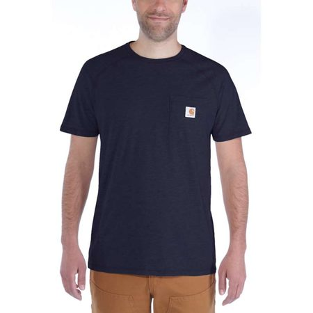 Carhartt triko - 100410 FORCE™ Cotton S-Sleeve T-Shirt Navy