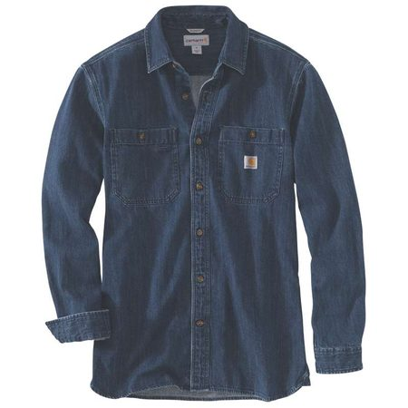 Košile carhartt -103854 I15 Denim Long Sleeve Shirt