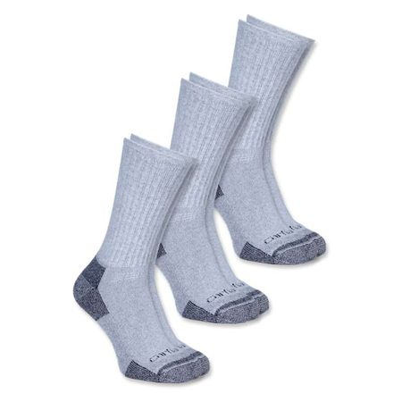 Carhartt Ponožky - A62HGY  ALL-SEASON COTTON WORK SOCK  3-PACK