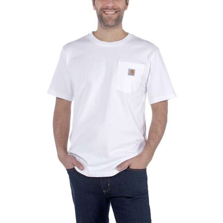Carhartt triko - 103296 100 Workwear Pocket S-Sleve T-shirt