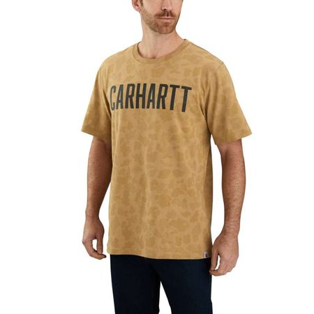Carhartt triko - 104346255 Workwear Camo Block Logo Short Sleeve T-shirt