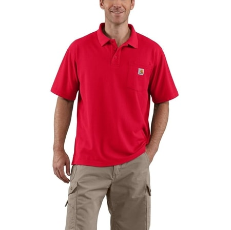 K570RED Contractor's Work Pocket™ Polo