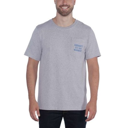 Carhartt triko -104363HGY Workwear Graphic Pocket S-Sleve T-shirt