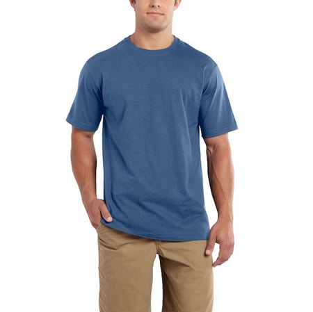101124 Maddock S-Sleve T-shirt Tidal Blue Heather