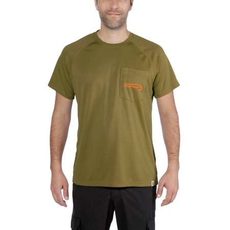 Carhartt triko - 103570 396 Force® Fish Graphic S/S Hooded T-shirt