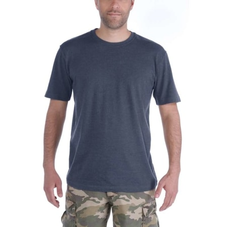 Carhartt triko -101124 411 Maddock S-Sleve T-shirt Carbon Heather Moss heather