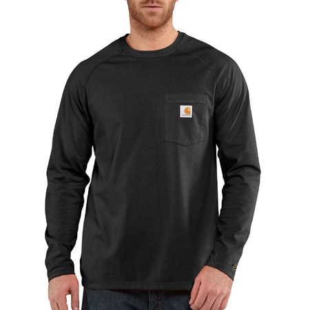 FORCE™ Cotton L-Sleeve T-shirt Black