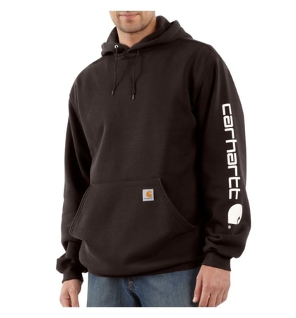 Carhartt Midweight Signature Sleave Logo Hooded Swearshirt