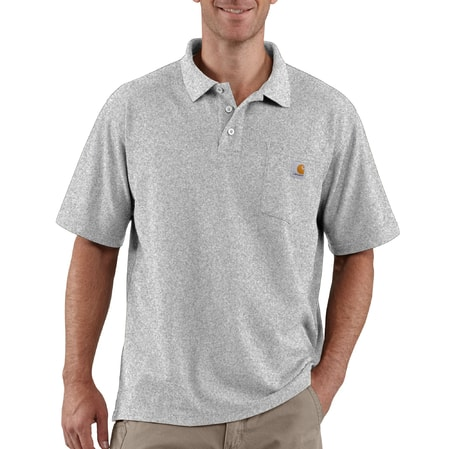 Carhartt triko - K570HGY Contractor's Work Pocket™ Polo