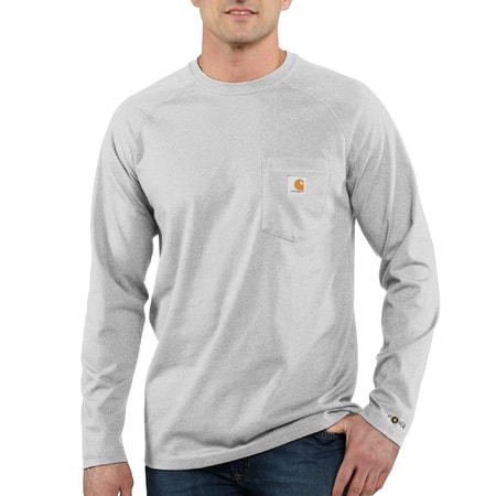 FORCE™ Cotton L-Sleeve T-shirt Heather Grey