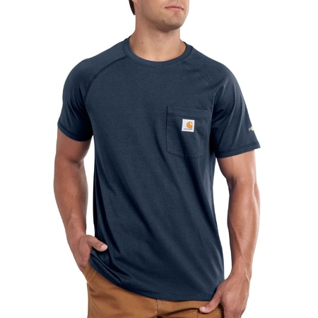 FORCE™ Cotton S-Sleeve T-Shirt Navy