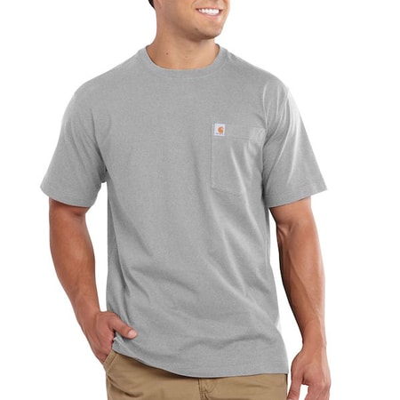 101125 Maddock Pocket S-Sleve T-shirt Heather grey