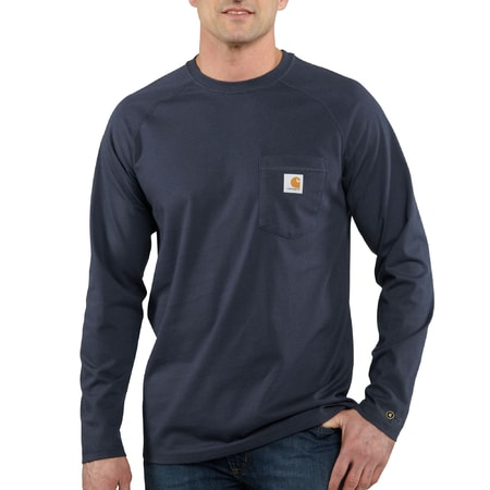 FORCE™ Cotton L-Sleeve T-shirt Navy